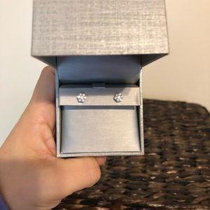 Jewelry - 1/2 carat white gold diamond earrings from zales